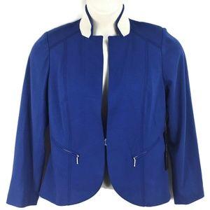 NWT Chicos 1 Blue Lined Blazer Jacket